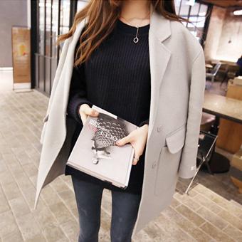 617 972 - Double pocket handmade, Coat (Gray) <br>