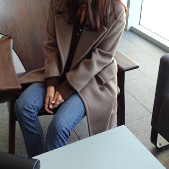 645789 - Double Pocket Wool Coat (Cocoa)