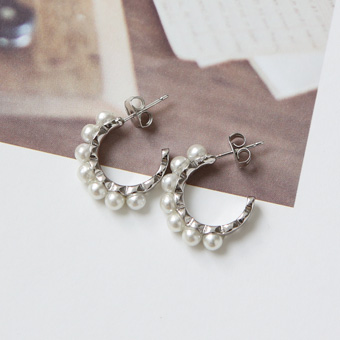 646188 - Pearl bangle earring