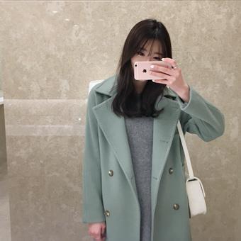 650329 - Wool Coat Double Stitch