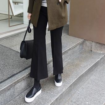 650961 - Boot-cut pants slit slack