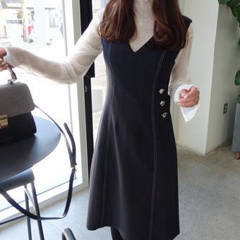 654654 - Button stitch dress