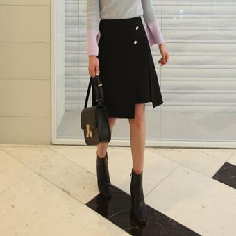 656627 - Olivia button skirt