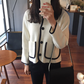 658537 - Cable knit jacket