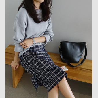 659362 - River checked skirt