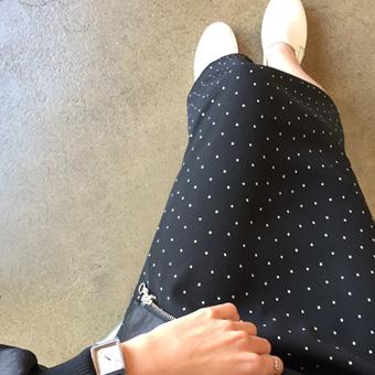663704 - Dot slim skirt