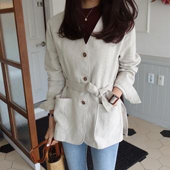 664878 - Nokara belt jacket (Beige)