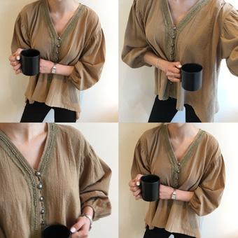 664879 - Button cotton blouse