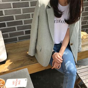 665953 - Linen herringbone jacket