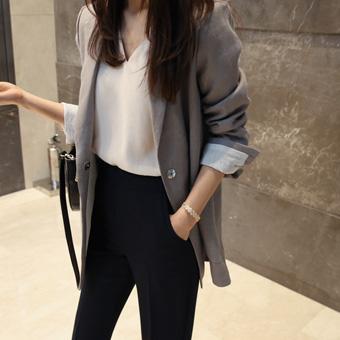 666467 - Luka color linen jacket