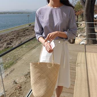 667287 - M Cotton Wrap skirt