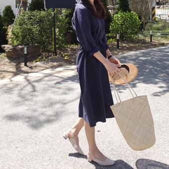 667499 - Linen trench dress