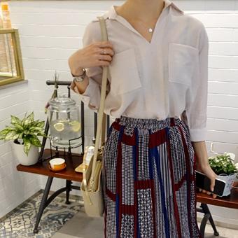 667922 - Maron pocket blouse
