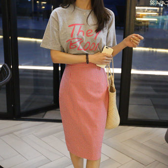 692975 - Small check skirt