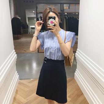 697019 - Linen belt wrap skirt