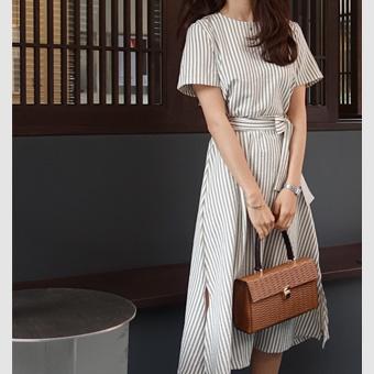 699226 - Bebe stripe dress