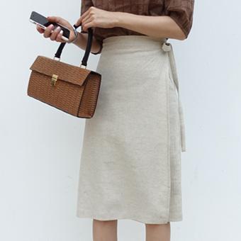 703837 - Maison linen wrap skirt