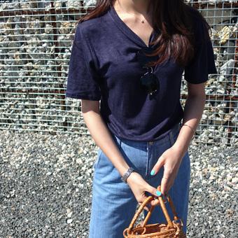 705997 - Mango Linen T-shirt