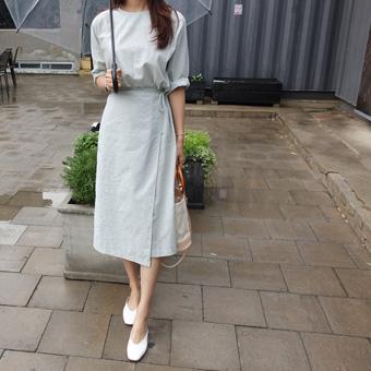 706829 - Soft Summer Wrap Dress