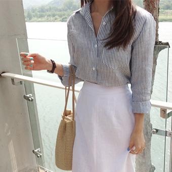 707281 - Tweed linen shirt