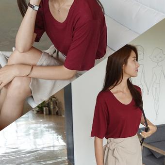 707980 - Around linen T-shirt