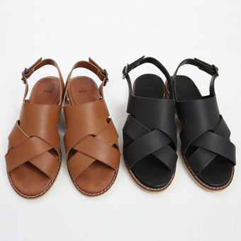 713258 - Double cross sandal shoes