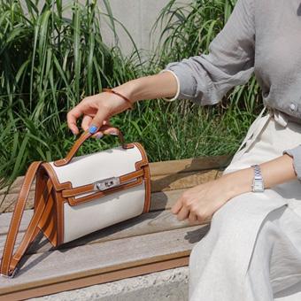 713550 - Camel buckle bag