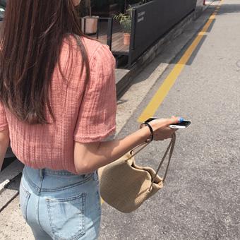 713578 - Linen fringe blouse