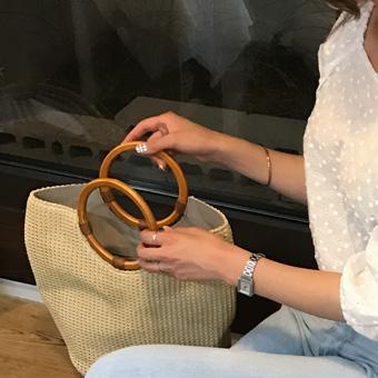 714029 - Wood Ring Shopper bag