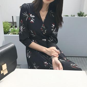 720369 - Black flower dress
