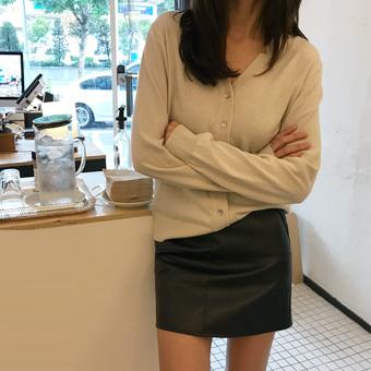 720924 - Minmi leather skirt