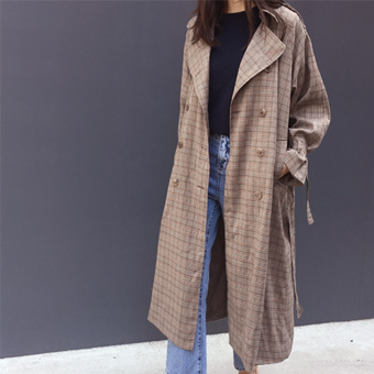 728804 - Brooke Check Trench Coat
