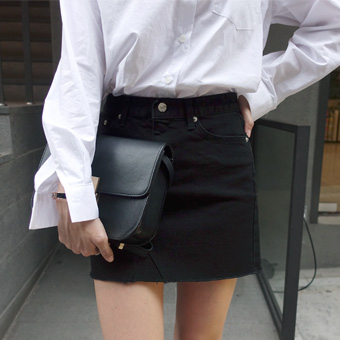 729954 - Black cotton skirt