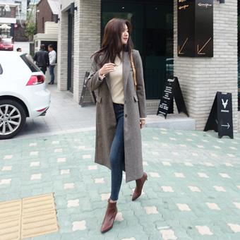 734149 - Brown Long Coat Coat