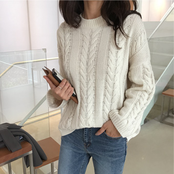 735391 - Two Block Knit