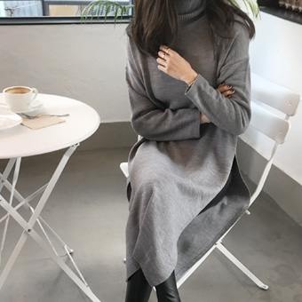 741274 - Long Slit Polar Knit