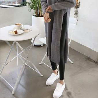 741276 - Black brushed leggings leggings