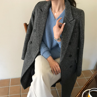 742600 - Soft Herringbone Coat