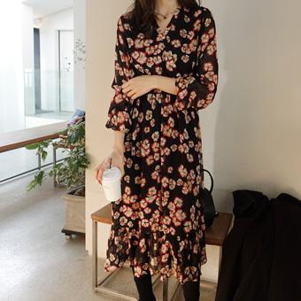 746647 - Pomegranate chiffon dress
