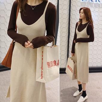 748587 - Closed knit dress