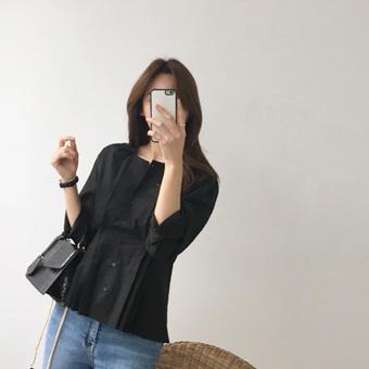 750792 - Waist slim blouse