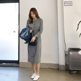 751458 - Yozo check dress