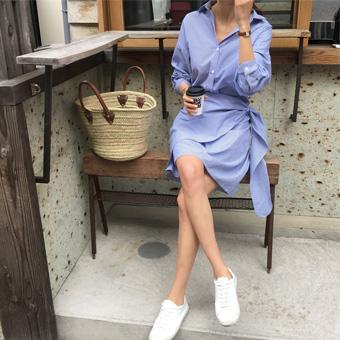 752978 - Striped lap dress