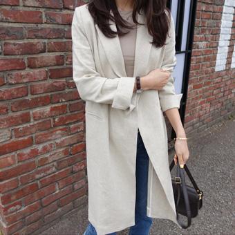 663711 - Isabella Long linen jacket