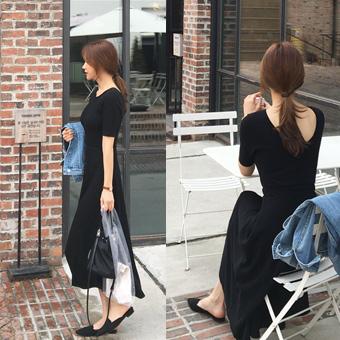 753245 - Back-to-back banding dress