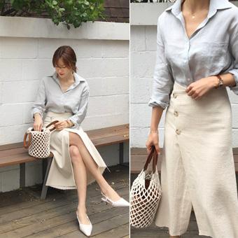 753391 - Pastel cotton skirt