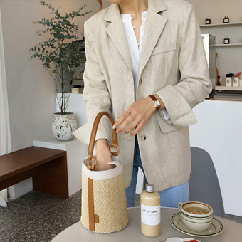 753609 - New herringbone linen jacket