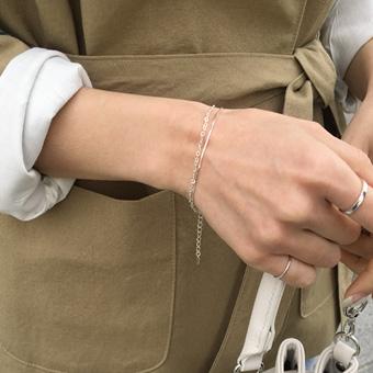 754143 - Two-row silver bracelet
