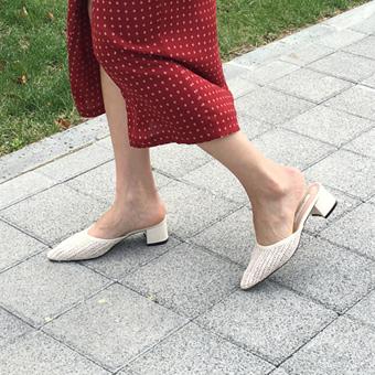754356 - Rattan flat shoes
