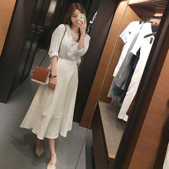 754372 - Linen full skirt skirt